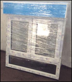 fenster kunststofffenster stulpfenster m rollladen unterlicht 1100x1300 ebay. Black Bedroom Furniture Sets. Home Design Ideas